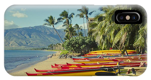 Kenolio Beach Sugar Beach Kihei Maui Hawaii  IPhone Case