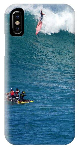 Jet Ski iPhone Case - Waimea Bay Takeoff by Kevin Smith