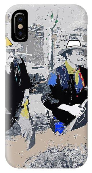 Walter Brennan And John Wayne Publicity Photo Rio Bravo Old Tucson Arizona 1959-2013 Phone Case by David Lee Guss