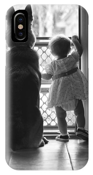 Watching The World Go By IPhone Case