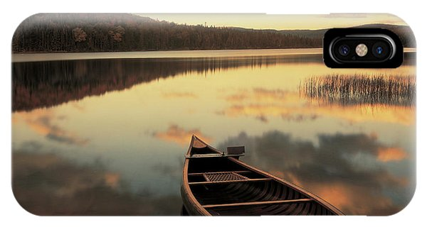 New Hampshire iPhone Case - Water And Boat, Maine, New Hampshire by Panoramic Images