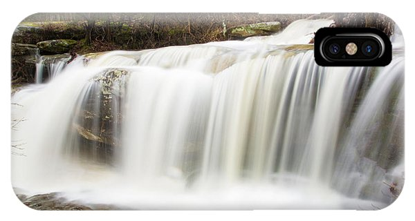 Water Falling From Rocks In A Forest IPhone Case