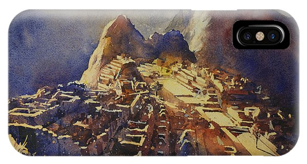 Watercolor Painting Machu Picchu Peru IPhone Case