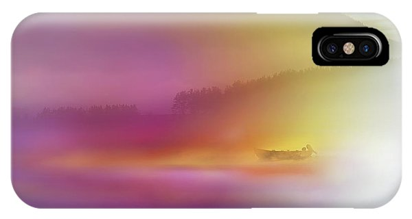 Yellow iPhone Case - Watercolor Seascape by Heidi Westum