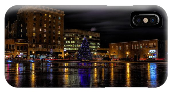 Wausau After Dark At Christmas IPhone Case