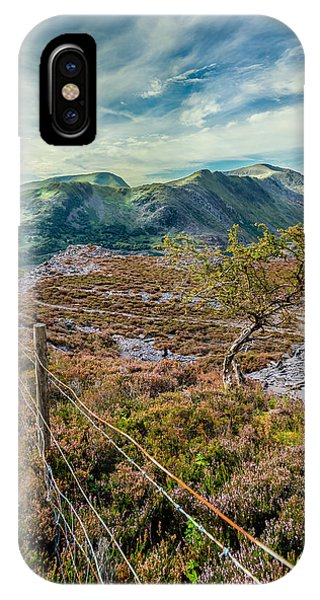 Heather iPhone Case - Welsh Mountains by Adrian Evans