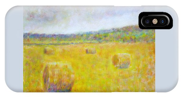 Wheat Bales At Harvest IPhone Case
