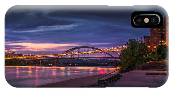 Wheeling Suspension Bridge  IPhone Case