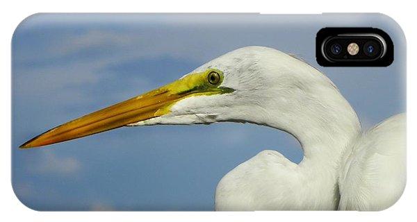 White Egret Phone Case by Carolyn Bistline