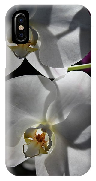 White Orchid Two Phone Case by Mark Steven Burhart