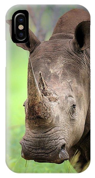 Lips iPhone Case - White Rhinoceros by Johan Swanepoel