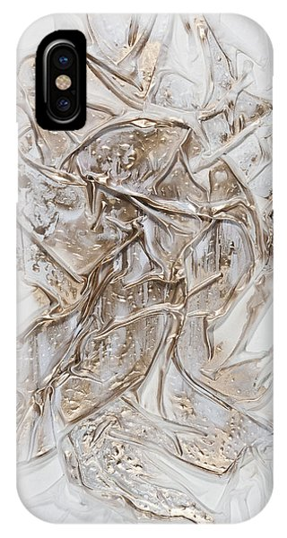 White With Gold IPhone Case