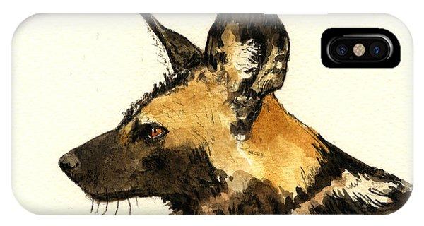 Wild Life iPhone Case - Wild Dog by Juan  Bosco