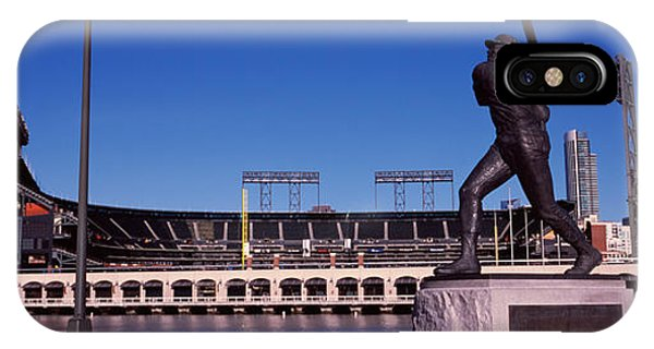 Willie Mays Statue In Front IPhone Case