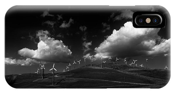 Windmill Electric Power Station IPhone Case