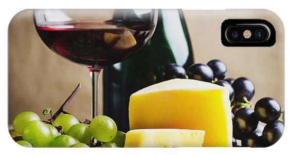 Menu iPhone Case - Wine And Cheese by Jelena Jovanovic