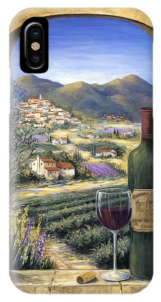 Arched iPhone Case - Wine And Lavender by Marilyn Dunlap