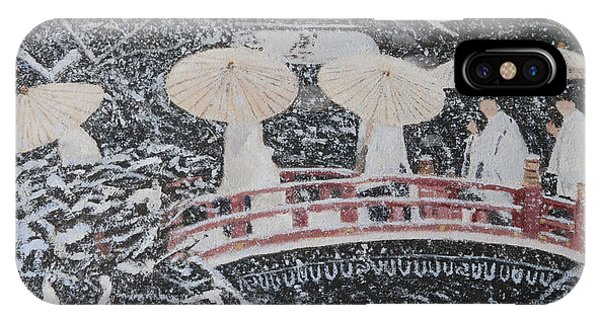 Winter Bridge Of Japan IPhone Case