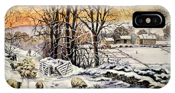 Barn Snow iPhone Case - Winter In The Ribble Valley  by Andrew Read