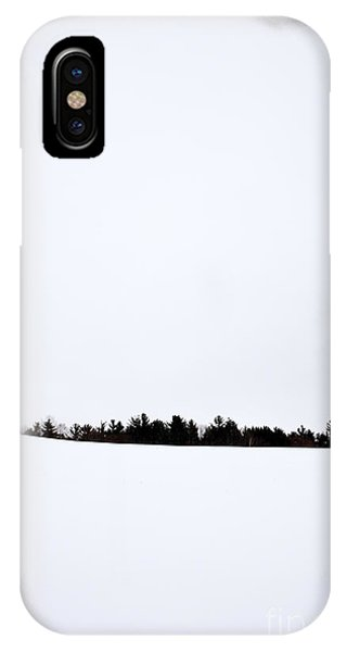 New England Barn iPhone Case - Winter Minimalism by Edward Fielding