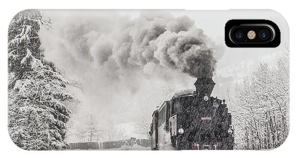 Train iPhone Case - Winter Story by Sveduneac Dorin Lucian