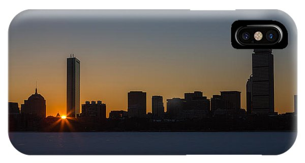 Winter Sunrise On The Charles II IPhone Case