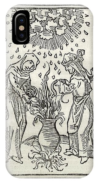 Cauldron iPhone Case - Witchcraft Treatise by Library Of Congress, Rare Book And Special Collections Division/science Photo Library