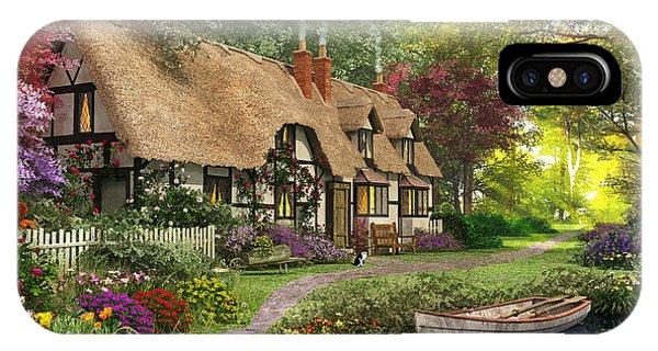 Mallard iPhone Case - Woodland Walk Cottage by Dominic Davison
