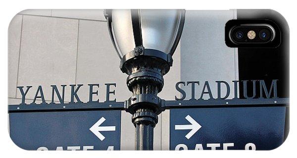 Yankee Stadium Sign Post IPhone Case