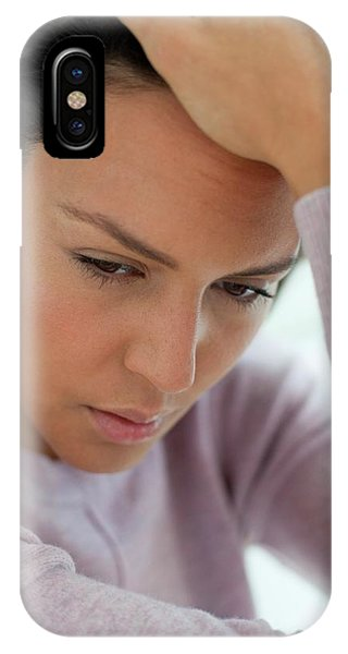 Young Woman Feeling Unwell Phone Case by Science Photo Library