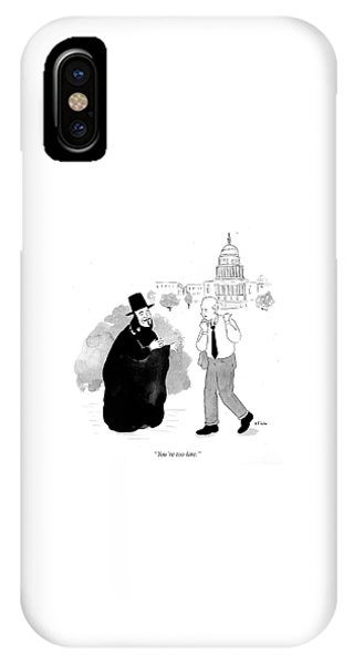 Capitol Building iPhone Case - You're Too Late by Emily Flake