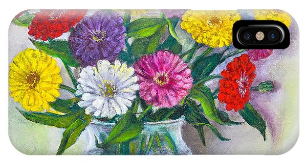 Old Fashioned Zinnias IPhone Case