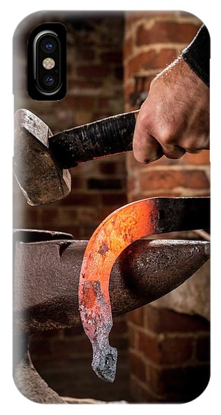 Anvil iPhone Case - Blacksmith At Work by Aberration Films Ltd