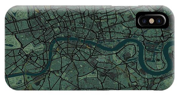 England iPhone Case - London England Street Map by Michael Tompsett