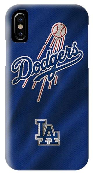 Bat iPhone Case - Los Angeles Dodgers Uniform by Joe Hamilton