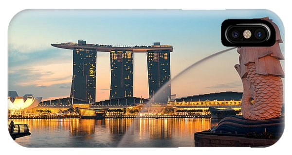 Singapore Skyline IPhone Case