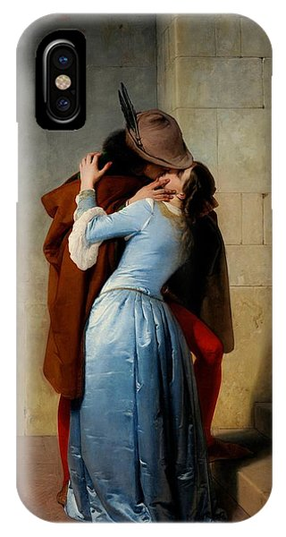 Valentines Day iPhone X Case - The Kiss by Francesco Hayez