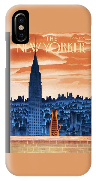 Chrysler Building iPhone Case - New Yorker January 12th, 2009 by Mark Ulriksen