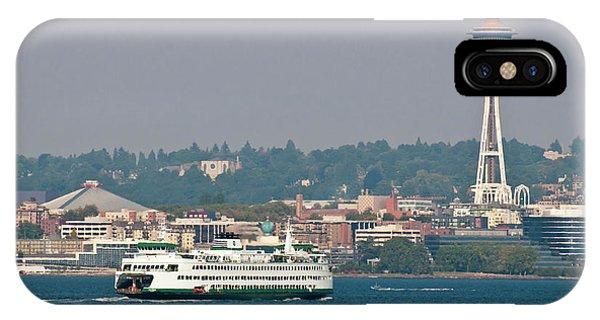 Commute iPhone Case - Usa, Wa, Seattle by Trish Drury