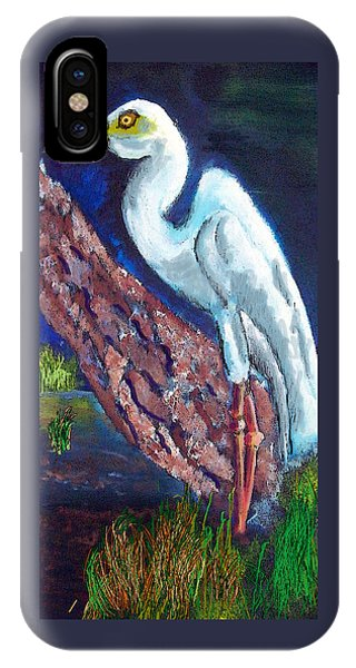 1004397egret IPhone Case