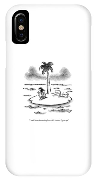 Shipwreck iPhone Case - I Could Never Leave This Place - This Is Where by Frank Cotham