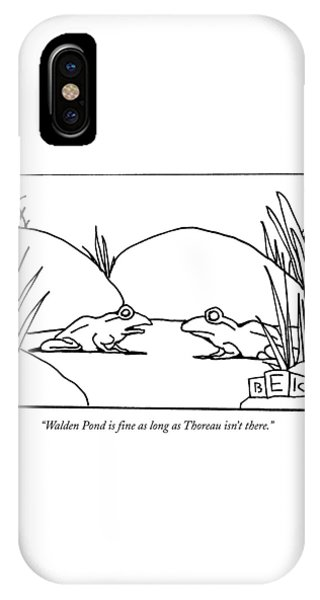 Walden Pond Is Fine As Long As Thoreau Isn't IPhone Case
