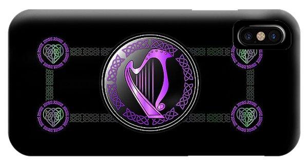 Harp iPhone Case - Celtic Harp by Ireland Calling