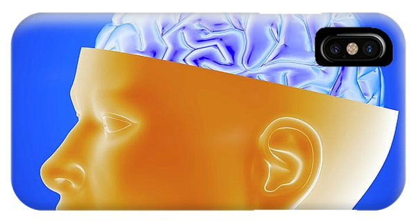 Human Brain Phone Case by Alfred Pasieka/science Photo Library