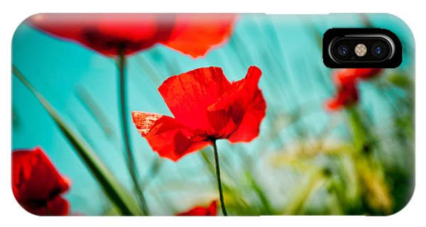 Poppy Field And Sky IPhone Case