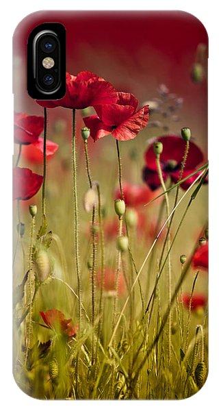 Soft iPhone Case - Summer Poppy by Nailia Schwarz