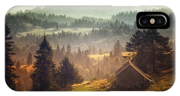 Fir Trees iPhone Case - Untitled by Stanislav Hricko