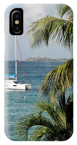 Catamaran iPhone Case - Usa, Usvi, St John by Trish Drury
