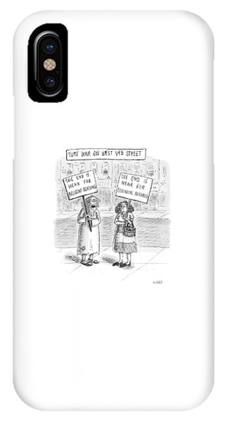 Protest iPhone Case - Turf War On West 49th Street by Roz Chast