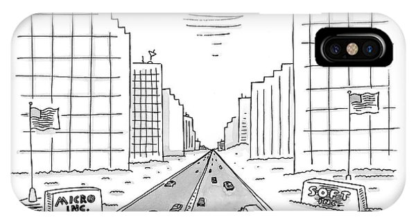 Highway iPhone Case - New Yorker May 15th, 2000 by Mick Stevens